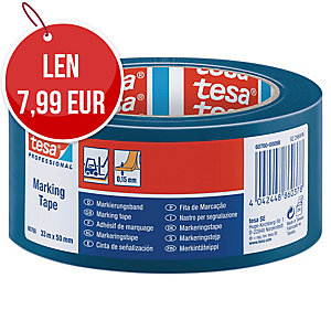 Označovacia lepiaca páska tesaflex® 60760, 50 mm x 33 m, modrá