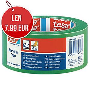 Označovacia lepiaca páska tesaflex® 60760, 50 mm x 33 m, zelená