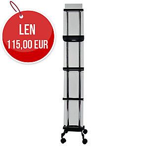 Prospektový stojan ALBA MOBILE mobilný, 4 poličky, small 30,5 x 165,4 x 32,4
