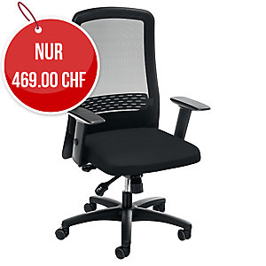 Bürostuhl Prosedia OEM40/MESH, hohe Rückenlehne, schwarz