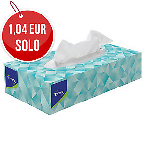 Caja de 100 pañuelos faciales LYRECO de dos capas color blanco