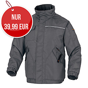 Delta plus Northwood2 Winterjacke, Grösse L, grau/orange