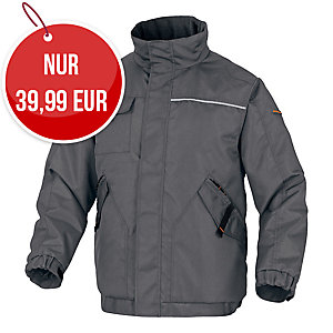 Delta plus Northwood2 Winterjacke, Grösse XL, grau/orange