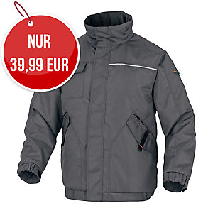 Delta plus Northwood2 Winterjacke, Grösse 3XL, grau/orange