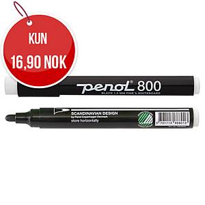 Whiteboardpenn Penol 800 1,5 mm, rund spiss, sort