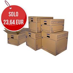 Scatole trasloco cartone Bankers Box® SmoothMove™ 320 x 260 x 470 mm - conf. 10