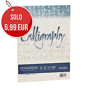 CARTA PERGAMENA CALLYGRAPHY FAVINI A4 190G/MQ SABBIA RISMA 50 FOGLI
