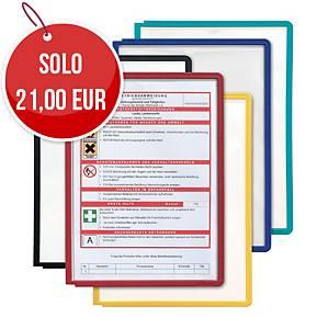 Pannello espositivo Durable Sherpa A4 colori assortiti - conf. 5