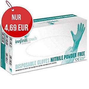 Innfinitt Touch Nitrileinweghandschuhe, puderfrei, Größe M, 100 Stück