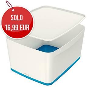 Contenitore con coperchio Leitz MyBox® PPL large bianco / blu