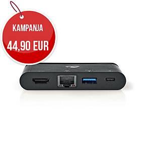 USB-C-telakointiasema HDMI, RJ45, USB-A