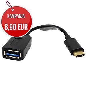 Deltaco USB-C - USB -A adapteri