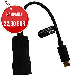 USB-C DisplayPort adapteri, musta