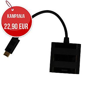 USB-C VGA adapteri, musta