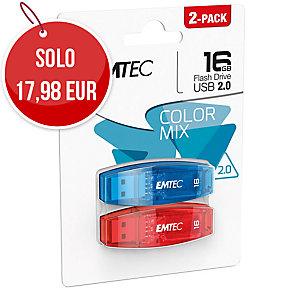 MEMORIA USB 2.0 C410 EMTEC 16GB - CONF. 2