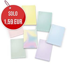 Quaderno Pigna Monocromo Maxi 21 x 29,7 cm quadretti 5 mm colori pastello
