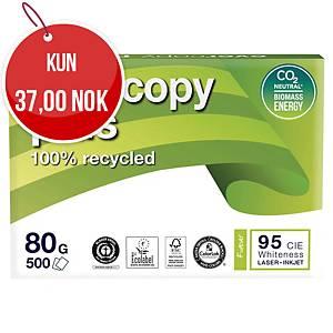 Resirkulert papir Evercopy+, A4, 80 g, kartong (5 pakker à 500 ark)