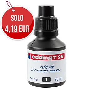 Ricarica marcatore indelebile Edding T25 nero