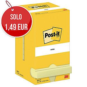 FOGLIETTI POST-IT® ADESIVO STANDARD: 12 BLOCCHETTI 76x76MM GIALLO CANARY™