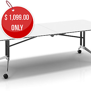 FOLDABLE BOARDROOM TABLE 240X100X74.3 WH