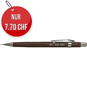 Druckbleistift Pentel P203, 0,3 mm, braun