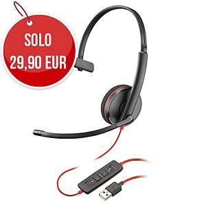 Cuffia a filo Poly Blackwire 3210 USB-A monoaurale