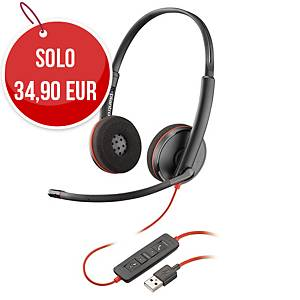 Cuffia a filo Poly Blackwire 3220 USB-A binaurale