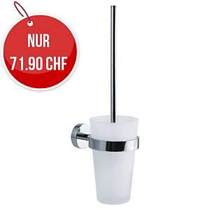 WC-Bürstenhalter Power Kit Tesa, satiniertes Glas, Metall