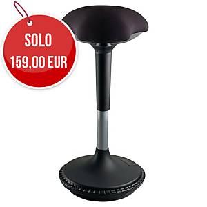 Sgabello ergonomico Unilux Moove nero