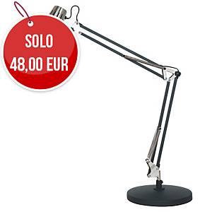 Lampada da tavolo led Aluminor Calypsa nero / argento
