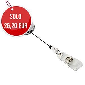 Chiocciola YO-YO portanome Durable in metallo cromato bianco - conf. 10