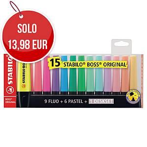 Evidenziatore Stabilo Boss Original colori assortiti - conf. 15