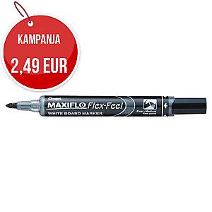 Pentel MWL5SBF-A Maxiflo Flex Feel valkotaulukynä taipuisalla 1-5mm kärjellä mus