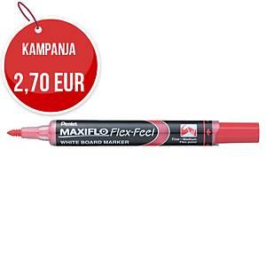 Pentel MWL5SBF-A Maxiflo Flex Feel valkotaulukynä taipuisa kärki punainen