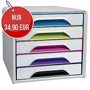 Cep Classic Schubladenbox 5-Schublaxden, Größe 36 x 28,8 x 27 cm, weiß-farbig