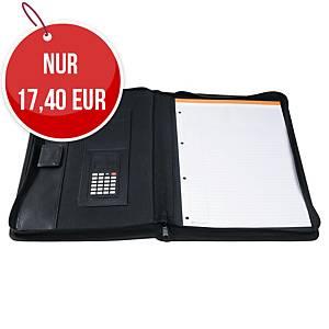 Exactive Konferenzmappe mit Taschenrechner A4, schwarz