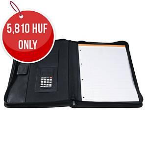 Exactive 55534E Conference Folder With Calculator Black
