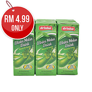 PACK OF 6 DRINHO WINTER MELON 250ML