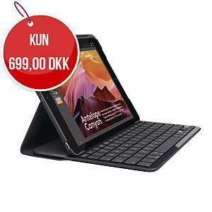 Tabletcover Logitech, med tastatur, sort