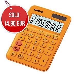 Calcolatrice da tavolo Casio MS-20UC 12 cifre arancione