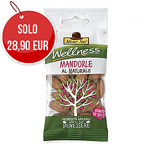 Snack frutta secca sgusciata mandorle Mister Nut in busta 25 g - conf. 24