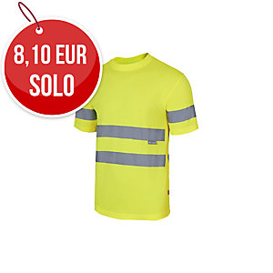Camiseta técnica de manga corta de alta visibilidad Velilla 305505 amarillo M