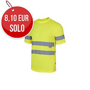 Camiseta técnica de manga corta de alta visibilidad Velilla 305505 amarillo XXL