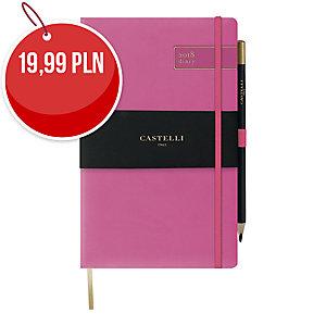 Kalendarz CASTELLI VITTORIO A5, tygodniowy, różowy
