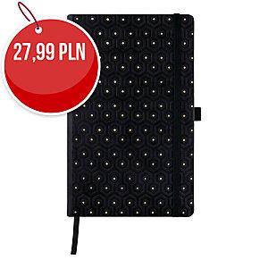 Kalendarz CASTELLI Black&Gold A5, dzienny, Honeycomb