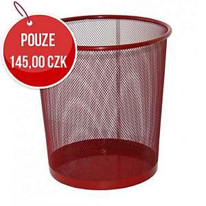 Drátěný odpadkový koš SaKOTA 18 l, červený