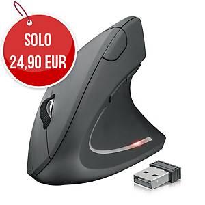 Mouse ergonomico verticale Verto Trust wireless nero