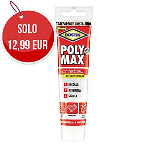 Colla trasparente Polymax Cristal Express Bostik verniciabile tubo 115 g