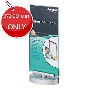DEFLECT-O 691001 ROTATABLE SIGN HOLDER ACRYLIC VERTICAL 1/3 A4