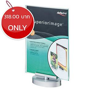 DEFLECT-O 691201 ROTATABLE SIGN HOLDER ACRYLIC VERTICAL A5